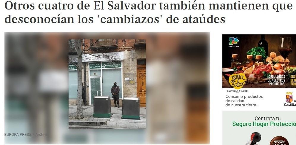 «Otros cuatro de El Salvador también mantienen que desconocían los 'cambiazos' de ataúdes»