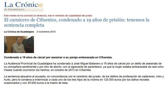 «El carnicero de Cifuentes, condenado a 19 años de prisión: tenemos la sentencia completa