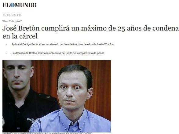«José Bretón cumplirá un máximo de 25 años de condena en la cárcel»