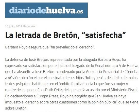 «La letrada de Bretón, 'satisfecha'»