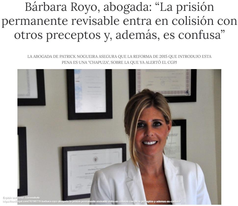 «La prisión permanente revisable entra en colisión con otros preceptos y, además, es confusa»