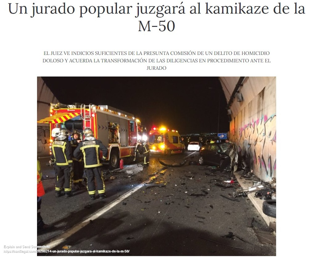 «El presunto kamikaze de la M-50 seguirá en prisión provisional» El País