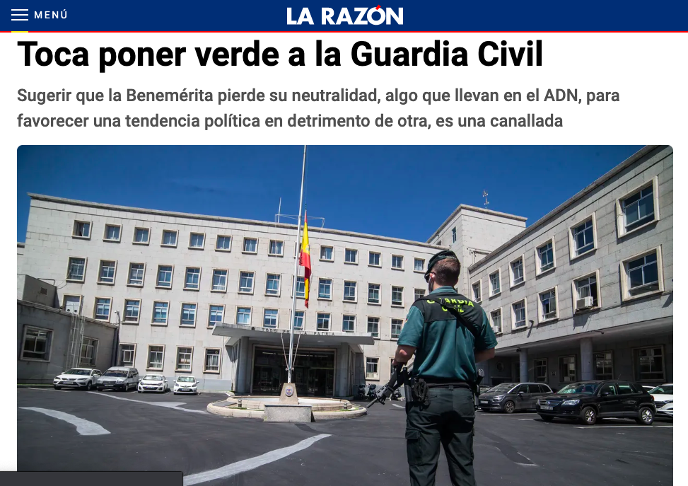 «Toca poner verde a la Guardia Civil»